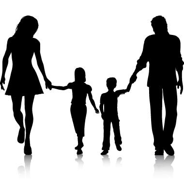 family walking vector 21762